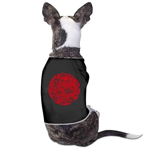 GSEGSEG Chinesischer Drache, Papierschnitt, süßes Hunde-Kostüm für Hunde und Katzen, aus Polyester (Kostüm Drachen Machen)