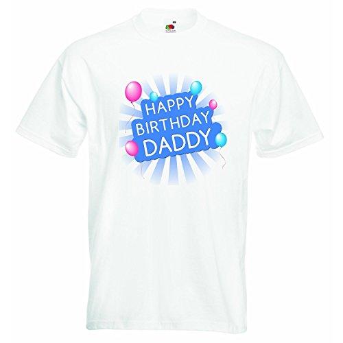 Happy Birthday Daddys-Jungen T-Shirt Personalisierte Tees Jungen TShirt Kleidung mit bedruckt Funny Quotes-Weiß-2-3Jahre (Kinder Personalisierte Kleidung Für)