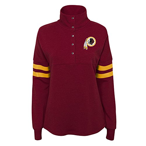 NFL by Outerstuff NFL Washington, Redskins Junior Classic Throw Varsity 1/4 Snap Pullover, Burgunderrot, Größe XL (15-17) Varsity Snap