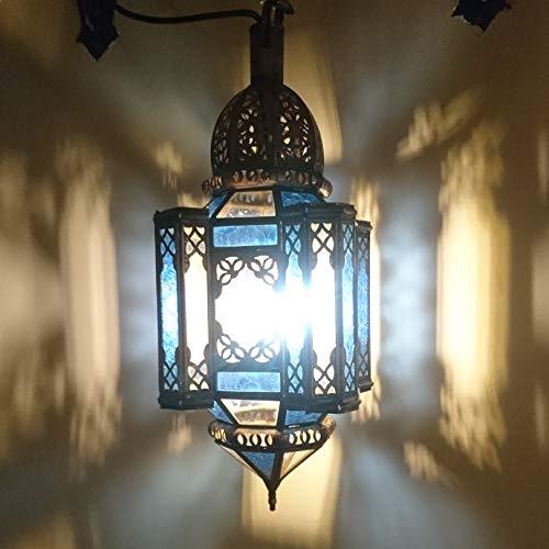 Farol marroquí (puntiaguda 55cm en varios colores | orientales marroquí Wind Luz Jardín Wind Luz | marroquí metal Farol para exterior como Farol de jardín, o interior como Farol de mesa