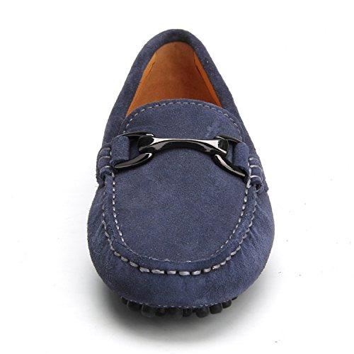 Shenduo Chaussures Pour Femmes - Mocassins En Daim Pour Femme Avec Antidérapant D7062 Gris