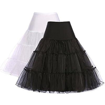 GRACE KARIN® Pack of 2 Women's 1950's Vintage Net Petticoat Crinoline Underskirt Slips