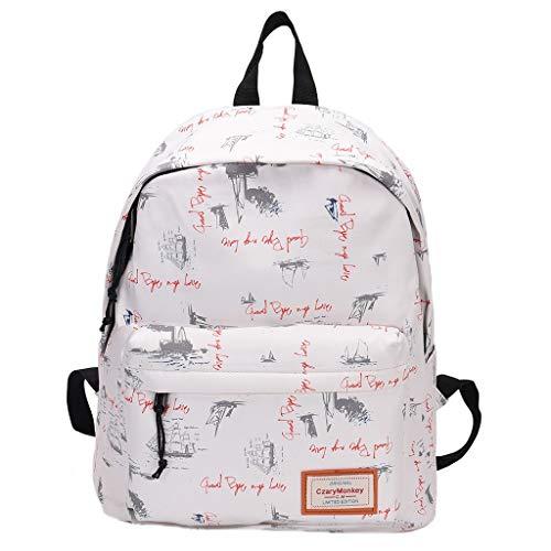 Sonnena Cartoons Graffiti Schulrucksäcke Laptop Rucksack Schultertasche Reiserucksäcke Wasserdicht 12-16 Zoll Laptoptasche,Daypack Für Männer und Jungen Outdoor und Schule