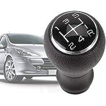 Keptfeet - Pomo de Cambio Manual de Coche de 5 velocidades para Citroën C1 C3 C4 / para Peugeot 106 107 205 206 207 306 307 308 309 405 406 407 508 605 607 ...