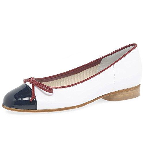 Gabor Shoes Damen Basic Geschlossene Ballerinas, Blau (Marine/Weiß/Cherry), 37.5 EU (Schuhe Patent Blau Marine Leder)