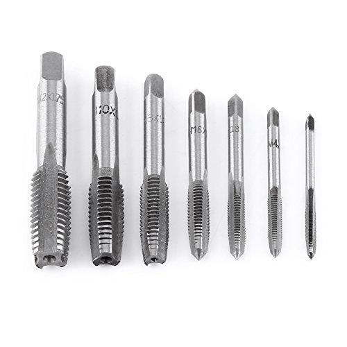 7pc Hand Gewindebohrer Metrischer Gewindeschneider Stahlgewindebohrer M3, M4, M5, M6, M8, M10, M12