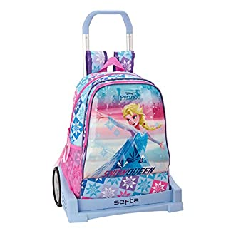 Frozen «Ice Magic» Oficial Mochila Espalda Ergonómica Con Carro Safta Evolution