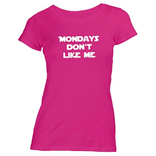 Damen T-Shirt - Mondays Don't Like Me - Montag Fun Work Pink