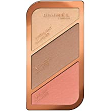 Rimmel London Sculpting Highlighter Palette, Coral Glow, 18.5 g