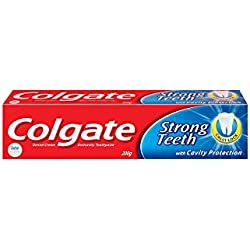 Colgate Toothpaste Strong Teeth Dental Cream - 200 g (Anti-cavity)