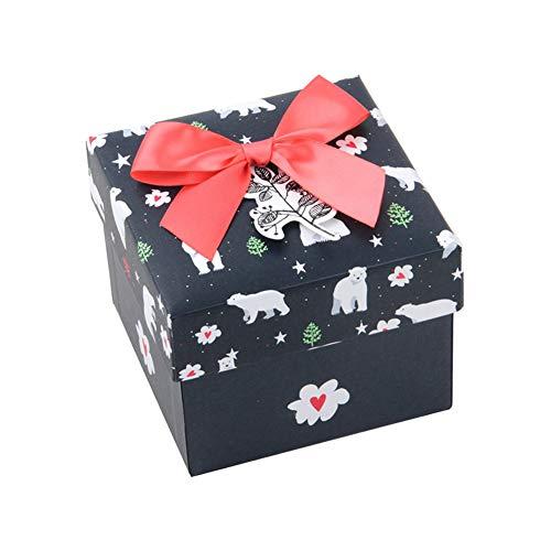 BIGBOBA Weihnachten Geschenk-Boxen Papier (Black)