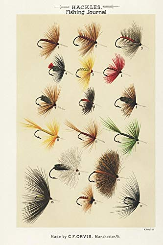 Hackles Fishing Journal, Made By C.F. Orvis Manchester VT: Fishing Diary for Serious Fishermen or Weekend Warriors Hobbies Log Weather, Rod, Bait, ... Mom, Sister, Grandma, Aunt and Friend