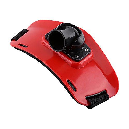 Cinturón de Pesca, Soporte Ajustable para la Cintura de Lucha que Rod Poste de Soporte con la Hebilla Plástica ( Color : Rojo )