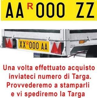 ShopAccessori Targa ripetitrice per rimorchi con serie Alfanumerica (4 lettere + 3 numeri) a scelt