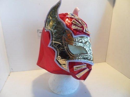 ing Maske, mit Reißverschluss, Rot (Sin Cara Kostüm Für Kinder)