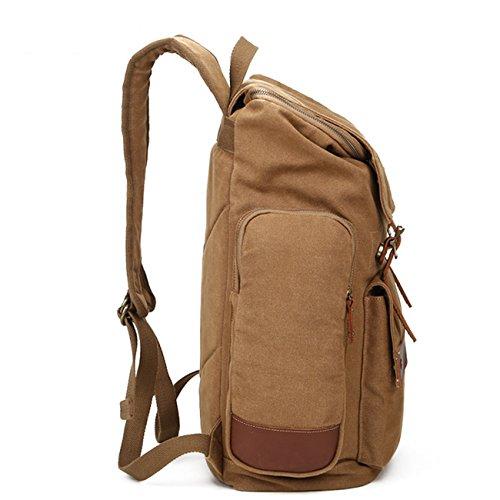 THEE Casual Vintage Rucksack Duffel Gepäck Tasche für Reise Wandern Camping Kaffee