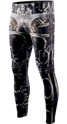 Cold Base Layer Legging (Zipravs Herren Dual KompressionsHose Funktionswäsche Fitness Base Layer Sportanzüge(S~3XL))