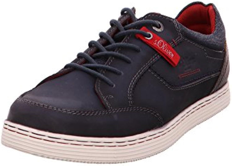 s.Oliver Herren 13629/805 Blaue Glattleder Sneaker
