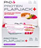 PhD Nutrition Protein Flapjack+ Bars, Apple and Raspberry, Pack of 12 x 75g