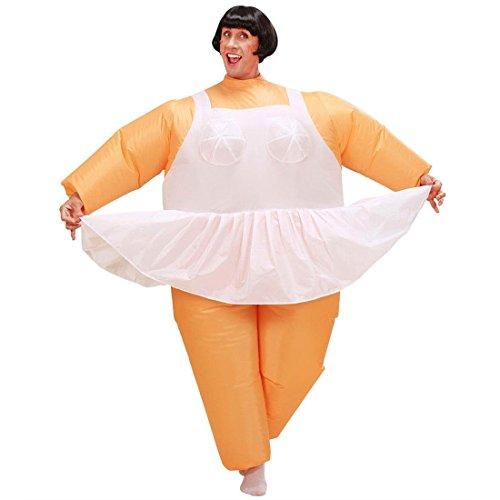 Aufblasbare Tänzerin Kostüm Ballerina Fat Suit Männerballett Dicke Herrenkostüm Junggesellenabschied Ganzkörper (Ballerina Aufblasbares Kostüm)