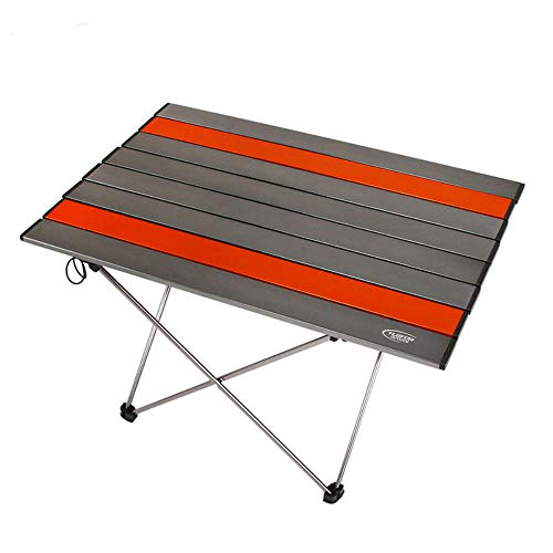 LXQ Table de Camping Portable en Aluminium, Table Pliante Hard Top Sac Pique-niquer, Camp, Plage et Facile à Nettoyer Camping en Plein air Table Pliante en Aluminium Portable Table de Camping