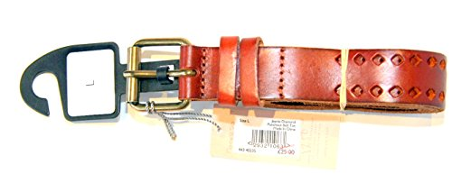 john-lewis-collection-jeanie-diamond-punchout-tan-leather-belt-size-large