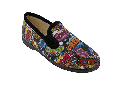 javer, Pantofole bambini nero nero nero Size: 32