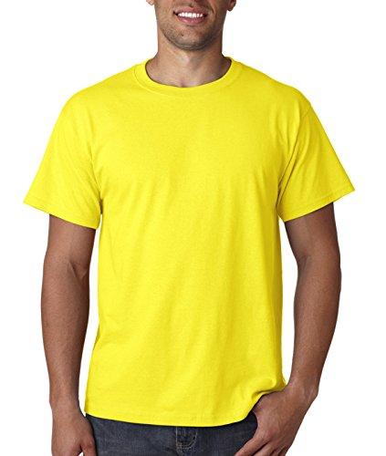 Fruit of the Loom140 g. - Maglietta 100% cotone pesante ad alta densità fluo giallo