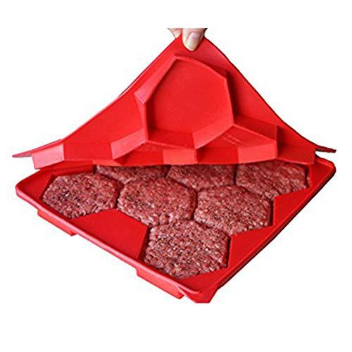 XGLL 8-Loch Frikadelle Maker BBQ Hamburger Silikonform