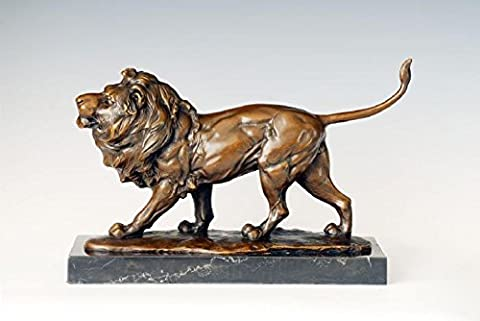 Toperkin Bronze Statues Animal Sculptures Lion Figurine Hand-made Collection TPAL-227
