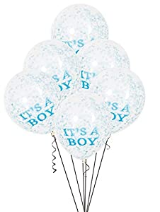Unique Party-Paquete de 6 globos confetti para Baby Shower It