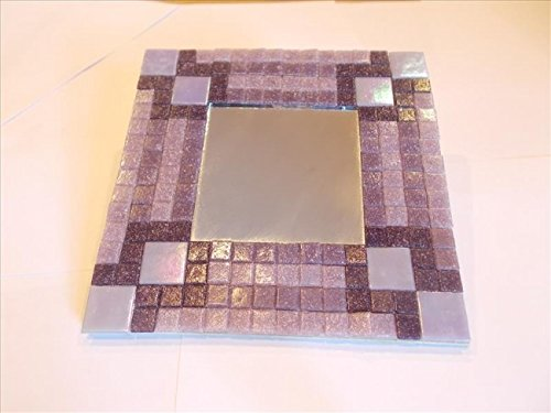 Mosaic Heaven Mosaic Mirror kit - Purple Bricks. Easy and fun to craft, great for adults, children, schools, beginner and expert mosaic artist