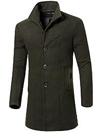 Homme Blouson Manches Longues Veste Manteau Trench Coat Parka 3366ef0f34a2