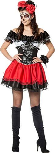 Mexiko Toten Kostüm Der Tag - Wilbers NEU Damen-Kostüm Tag der Toten, Gr. 46