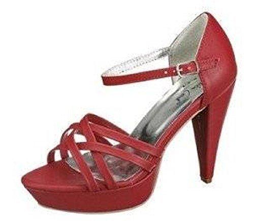 Andrea Conti Sandalette, Espadrillas basse donna Rosso (rosso)