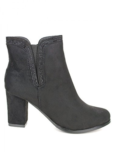 Cendriyon, Bottine noire LADYS Strass Chaussures Femme Noir