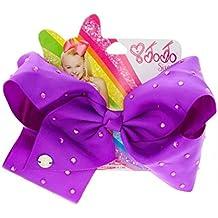 JoJo Siwa Large Signature Bow - Rhinestone JoJo Bow - Diamante Jo Jo Bow (Purple