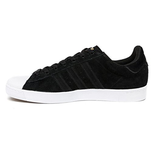 adidas Herren Superstar Vulc ADV Skaterschuhe Core Black/Ftwr White/Gold Met.