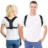 APGTEK Posture Corrector Ergonomico para Hombre y Mujer, Corrector de Postura Espalda y Hombro Aliviar la Joroba y Dolor Longitud Ajustable. Tamaño S