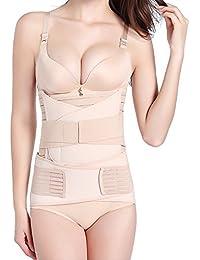 Okpow - Cintura post partum, fascia elasticizzata per la pancia con supporto a C, per recuperare la forma, adatta a tutte le donne