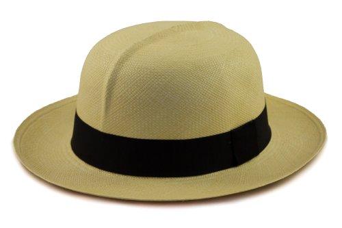 Kolonial Faltbarer Echter Panamahut - rollbar, faltbar - in einer Reihe von Größen erhältlich. Aus natürlichen Faser handgewebt in (Hüte Kolonial)