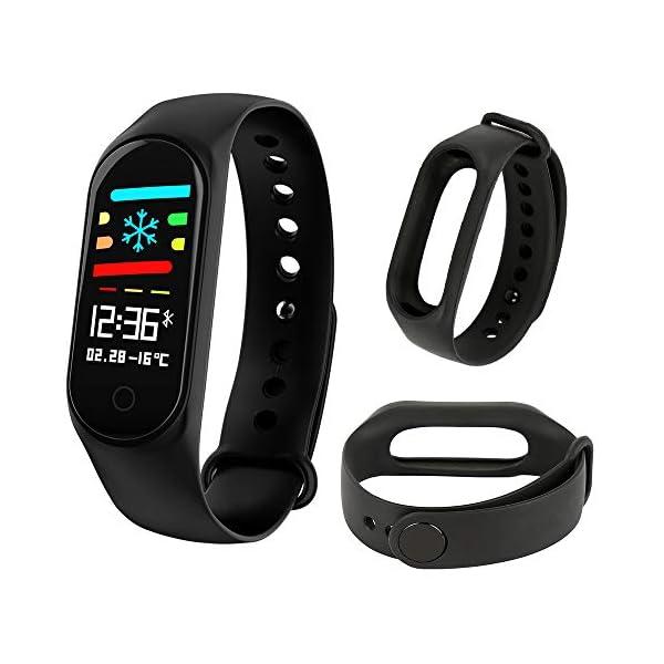 LEEBA Correa de repuesto para M3/M3s Fitness Tracker LEFUN Health APP silicona Smart Bracelet Accesorios Color sólido… 3