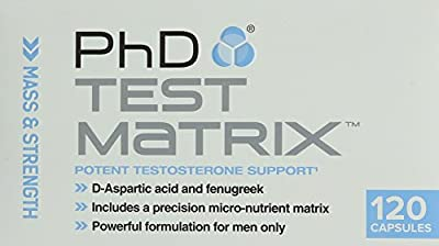 PhD Nutrition Test Matrix Testosterone Support, 120 Capsules from PhD Nutrition