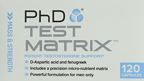 PhD Nutrition Test Matrix Testosterone Support, 120 Capsules