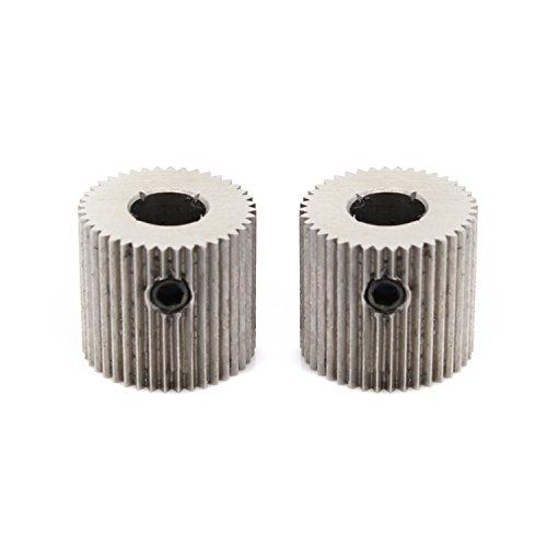 Zomiee 5 mm 40T Extruder Treiber Feeder Gear Bohrung Reduzierstück Rad für MakerBot MK7 MK8 3D Drucker (Pack von 2)