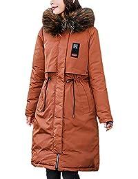 58d3687db075 Hiver Manteau Femme Longues Élégant Vintage Fashion Outdoor avec Capuchon  Fourrure Doudoune Manteau Impression Manches Longues