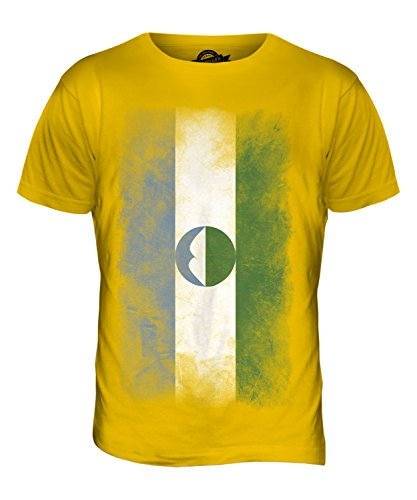 CandyMix Kabardino-Balkarien Verblichen Flagge Herren T Shirt Dunkelgelb