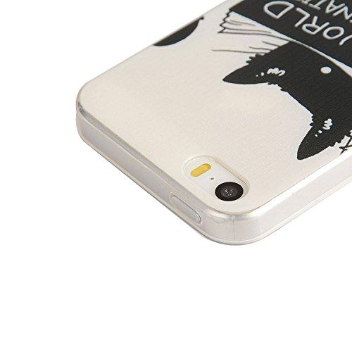 Pour Apple iPhone 5 5G 5S / iPhone SE (4 Pouces) Coque ZeWoo® Étui en Silicone TPU Housse Protecteur - YG012 / World Domination For Cats YG012 / World Domination For Cats