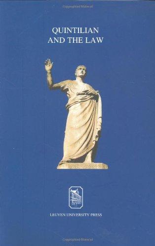 Quintilian and the Law (Varia Letteren) por Olga Tellegen-Couperus