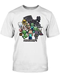 """Minecraft T-Shirt (Youth) - Minecraft Party (S (30"""" Chest))"""